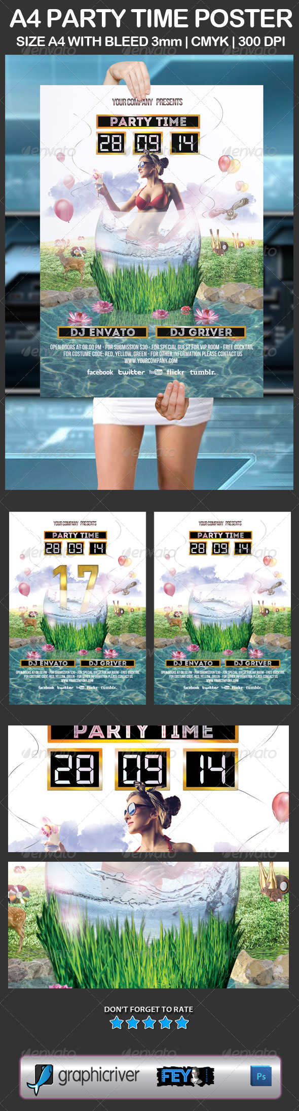 GraphicRiver A4 Party Time Poster 5980709