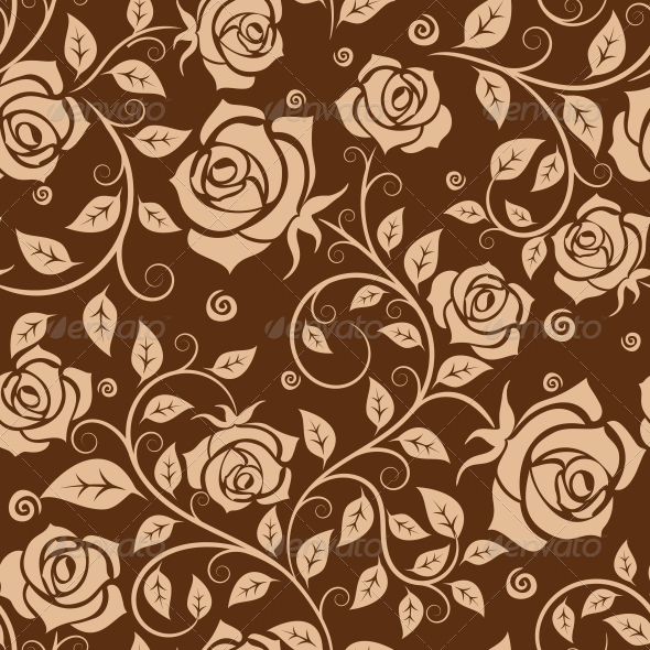 GraphicRiver Seamless Pattern with Roses 5981237