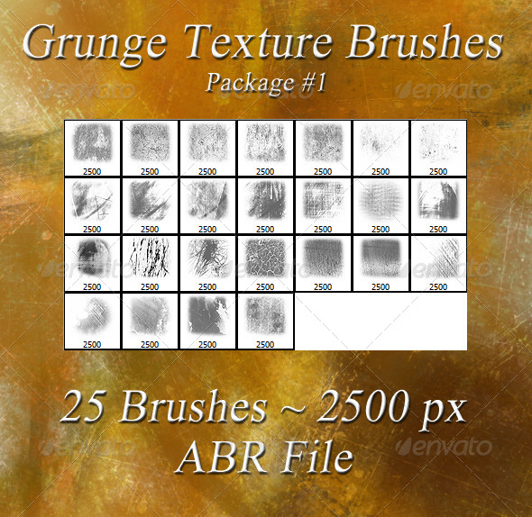 GraphicRiver Grunge Texture Brushes Pkg #1 5981395