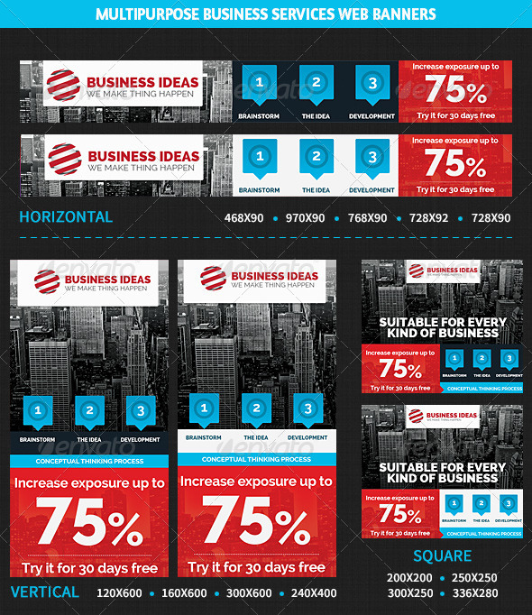 GraphicRiver Multipurpose Business & Services Web Banners 5981909