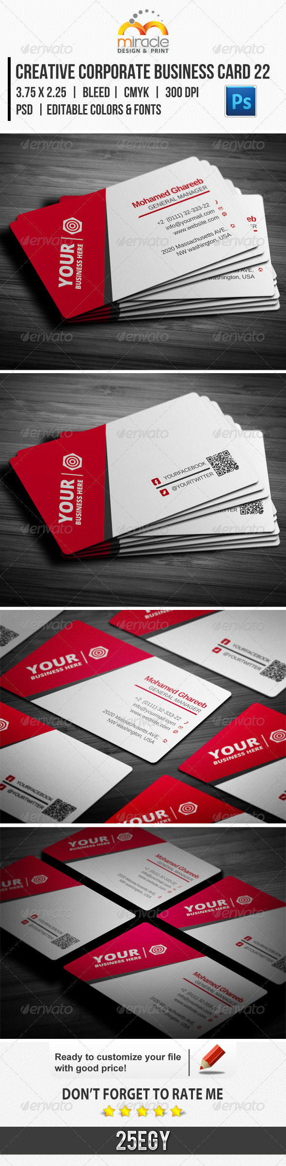 GraphicRiver Creative Corporate Business Card 22 5982149