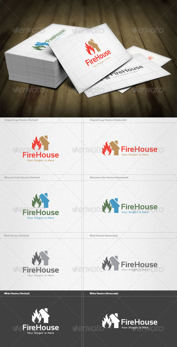 GraphicRiver Fire House Logo 5982307