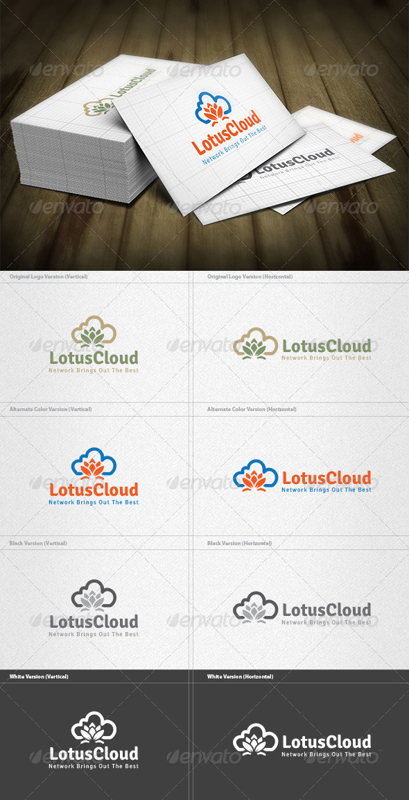 GraphicRiver Lotus Cloud Logo 5982401