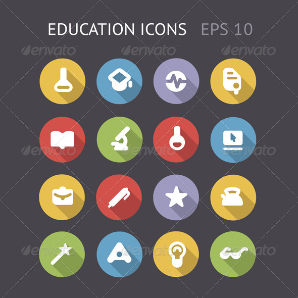 GraphicRiver Flat Icons For Education 5982781