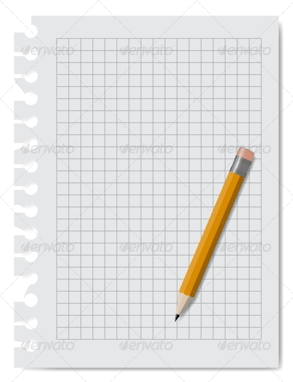 GraphicRiver Note Book Paper with Pencil 5983405