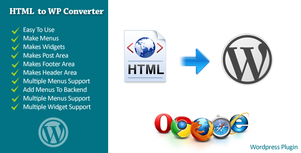 CodeCanyon HTML To WordPress Converter 5947287
