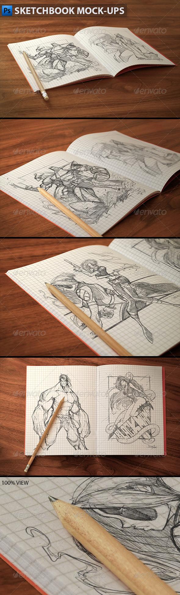 GraphicRiver Sketchbook Mock-ups 5965398
