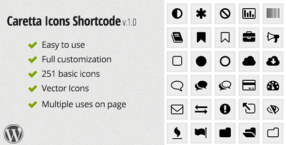 CodeCanyon Caretta Icons Shortcode 5984410
