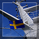 Swedish Flag By The Ship - VideoHive Item for Sale