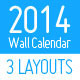 2014 Minimal Wall Calendar Set - GraphicRiver Item for Sale