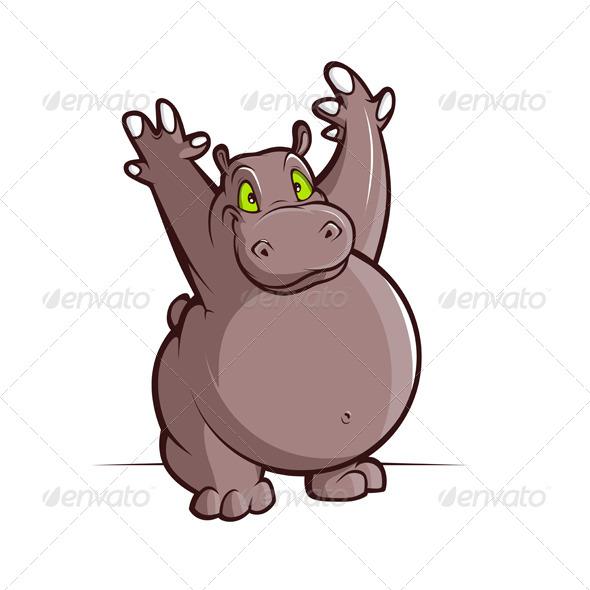 GraphicRiver Cartoon Hippo 5984697