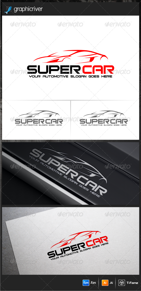 GraphicRiver Super Car Logo Templates 5985188