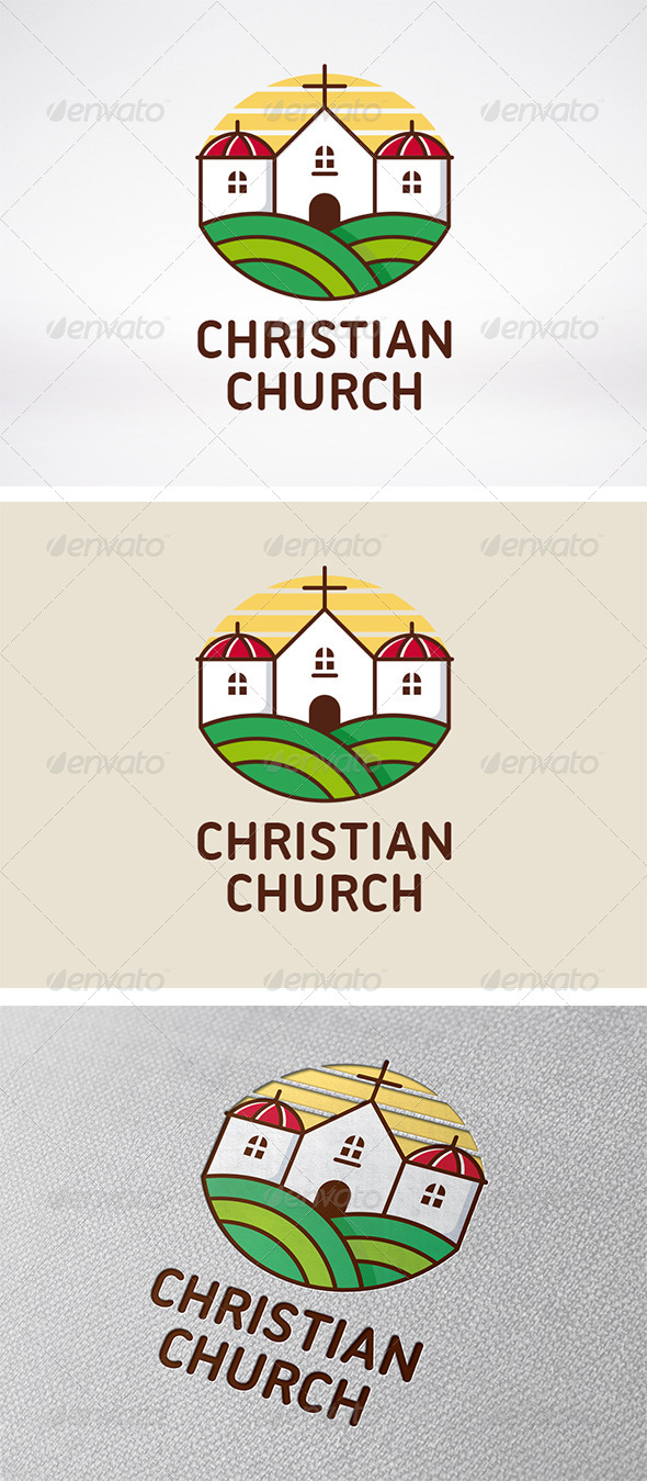 GraphicRiver Christian Church Logo 5985665