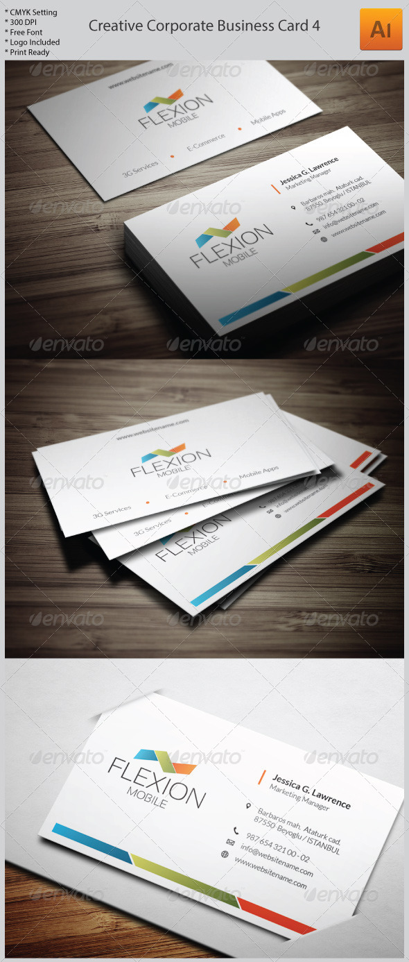 GraphicRiver Creative Corporate Business Card 5985872