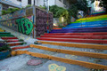 Painted Staircase in Istanbul Turkey - PhotoDune Item for Sale