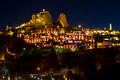 Night View on Uchisar Cave Town  Cappadocia Turkey - PhotoDune Item for Sale