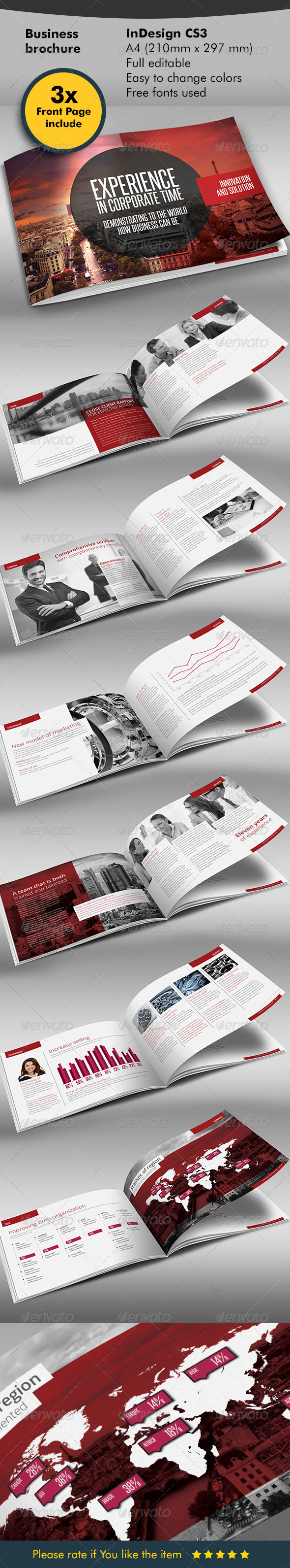 GraphicRiver Red Black Design Brochure 5986945