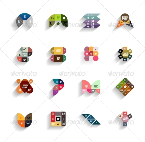 GraphicRiver Set of 3D Flat Geometric Abstract Icons 5987893