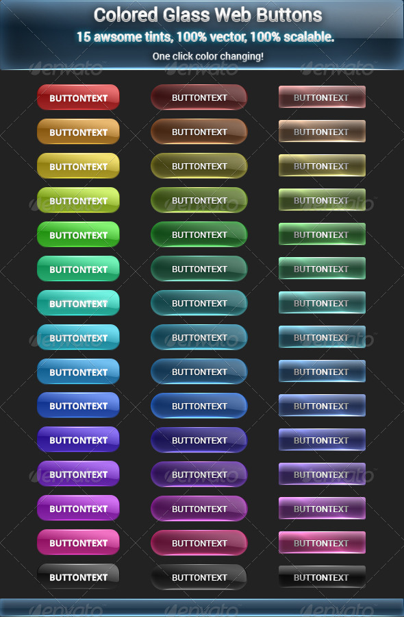 GraphicRiver Colored Glass Buttons 5988043