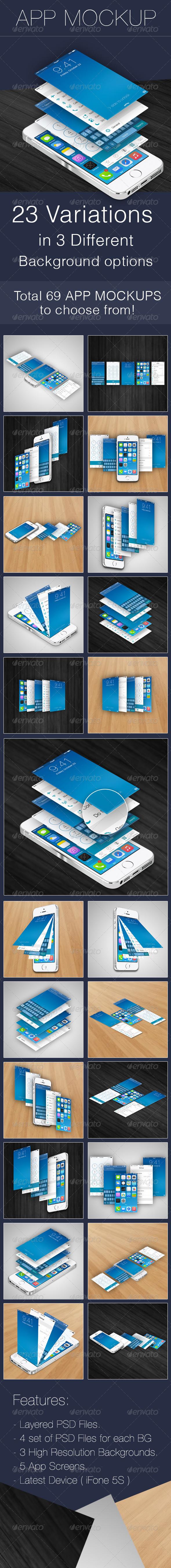 GraphicRiver App Screen Mockup App Mockups 5988063