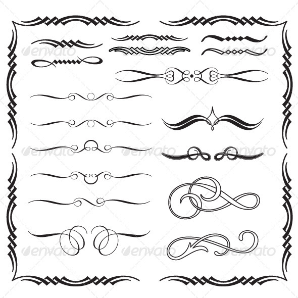GraphicRiver Arabesque Calligraphic Ornaments 5988430