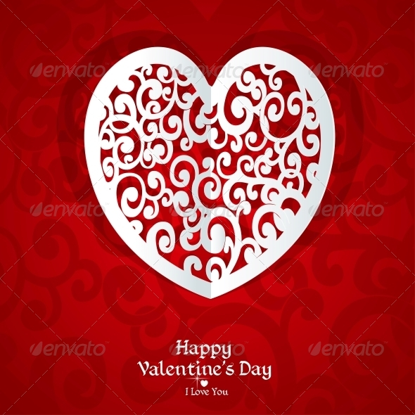 GraphicRiver Delicate Valentine Card Applique 5988537