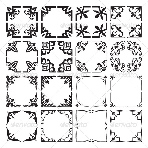 GraphicRiver Set of Decorative Corners and Frames 5988690