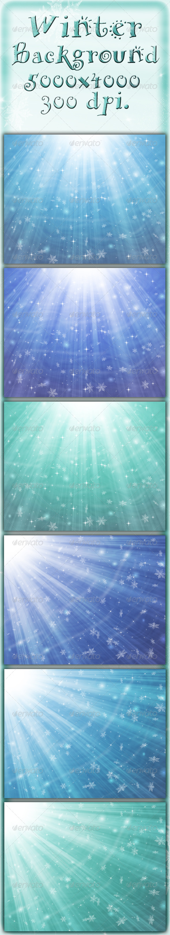 GraphicRiver Winter Backgrounds 5988694