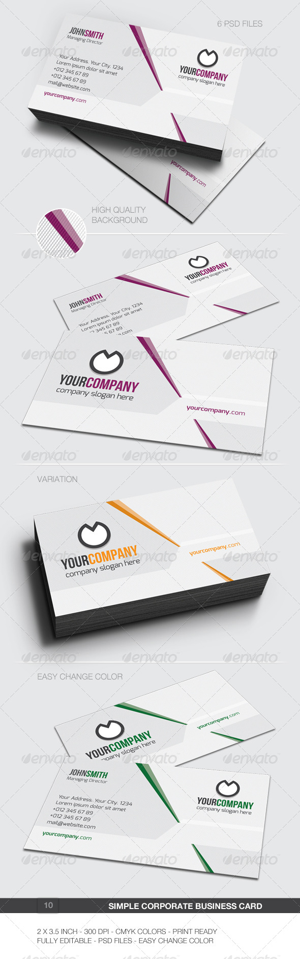 GraphicRiver Simple Corporate Business Card 10 5988935