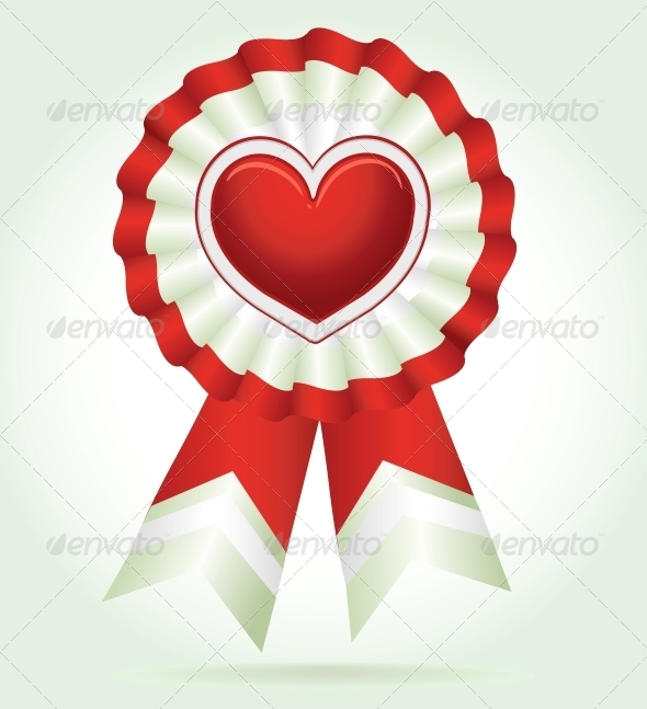 GraphicRiver Vector Heart Red Award 5988967