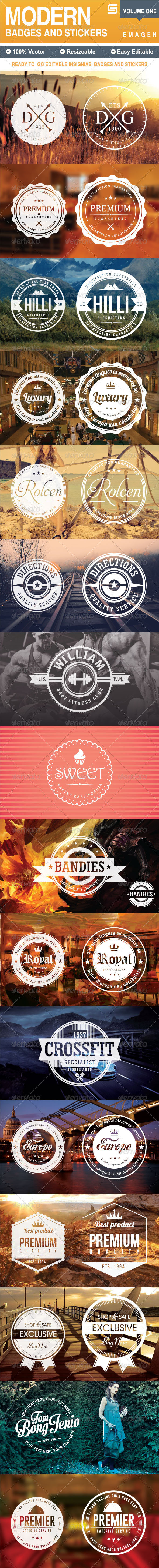 GraphicRiver Modern Badges and Stickers V1 5988970