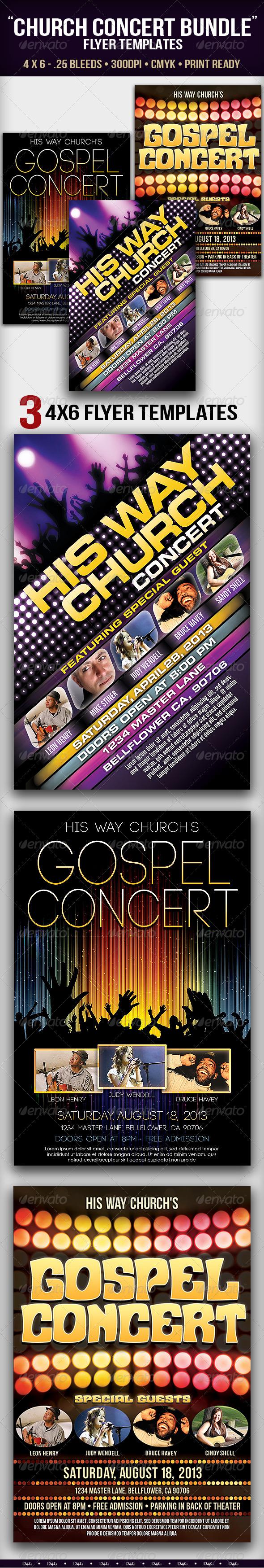 GraphicRiver Church Concert Flyer Bundle 5989095