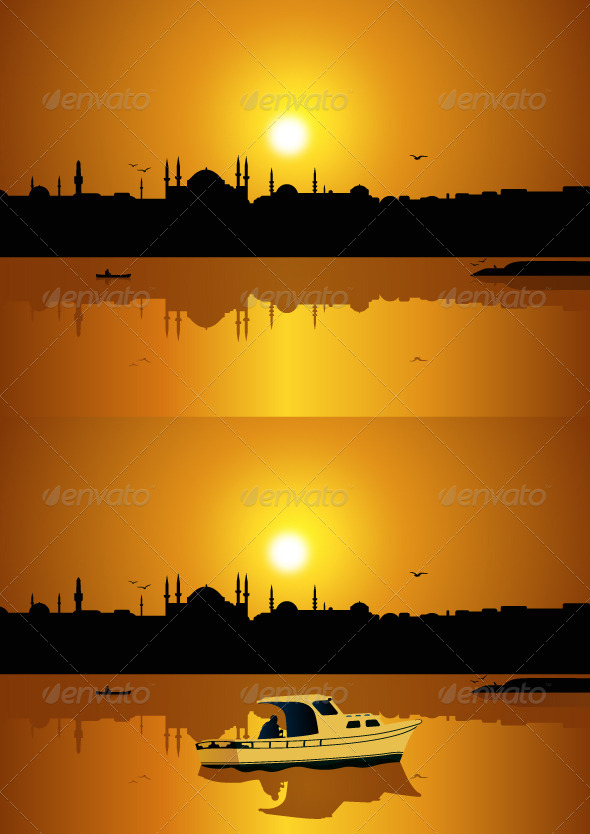 GraphicRiver Istanbul and Sunset 5989133