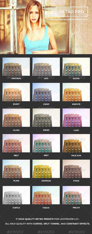 GraphicRiver Retro Pro Lightroom Presets 5965223