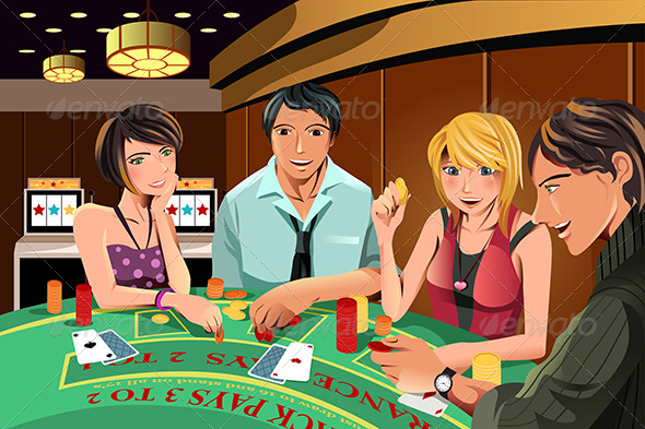 GraphicRiver People Gambling in Casino 5990294