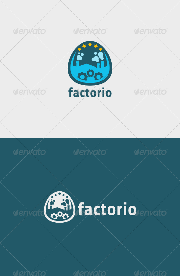 GraphicRiver Factorio Logo 5990570