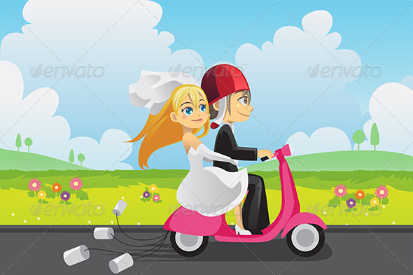 GraphicRiver Bride and Groom 5991240