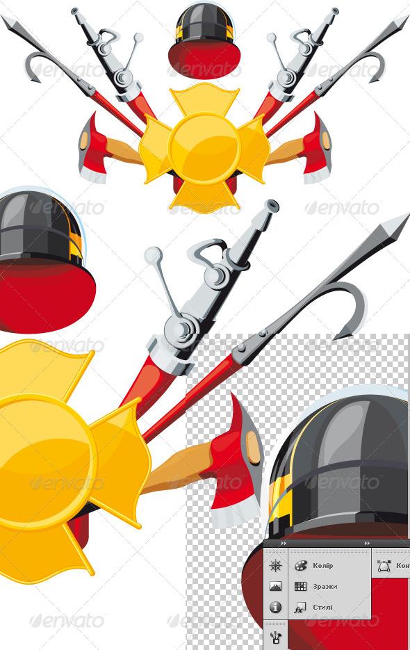 GraphicRiver Fire Department Emblem 5991470
