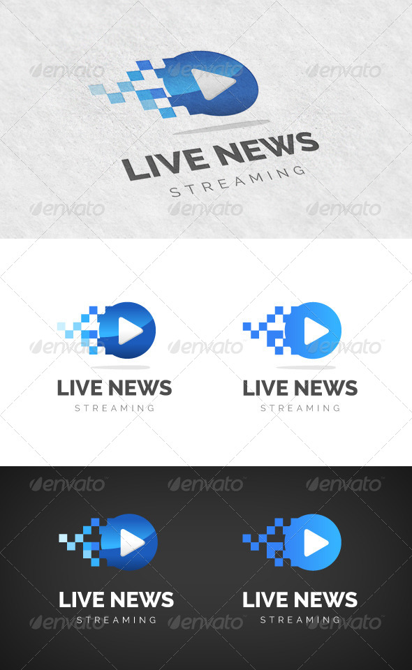 GraphicRiver Media Streaming Logo 5991495
