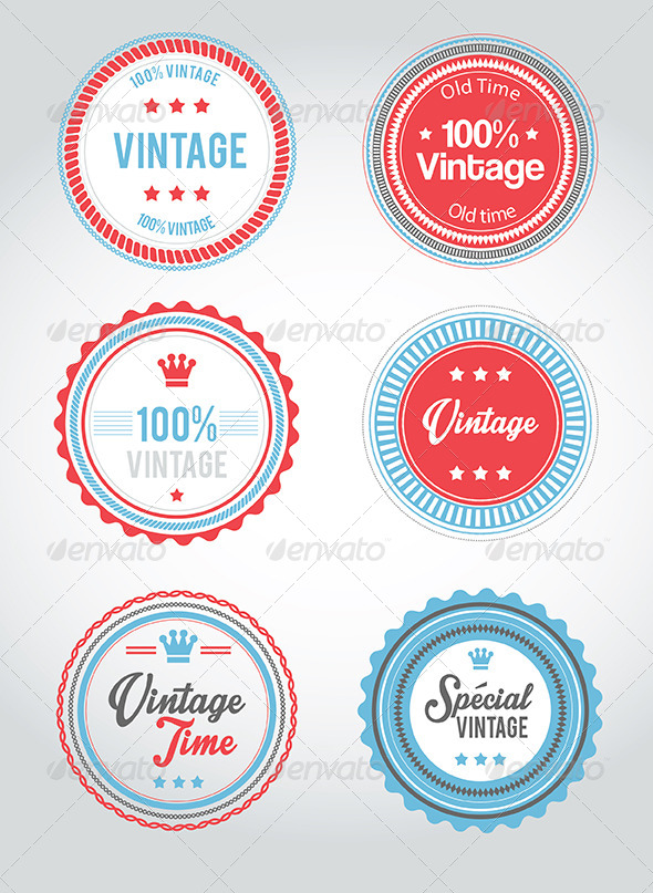 GraphicRiver Vintage Badge Web Vector 5958626