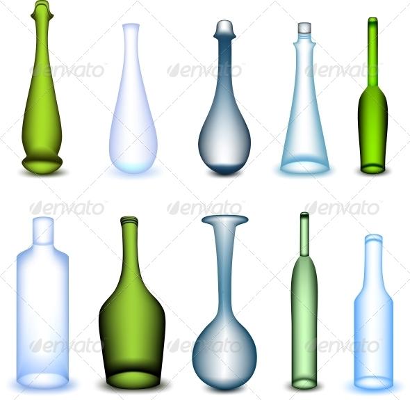 GraphicRiver Colorful Bottles Set 5991689