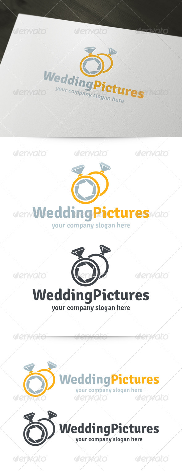 GraphicRiver Wedding Pictures Photography Logo 5991890