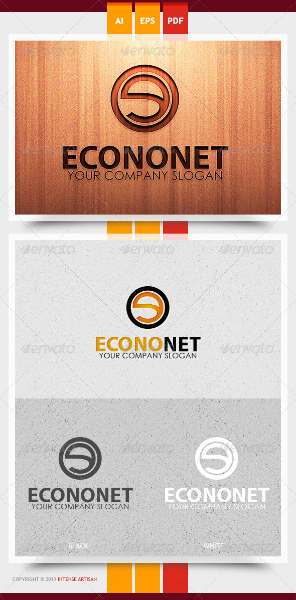 GraphicRiver Econonet Logo Template 5992325