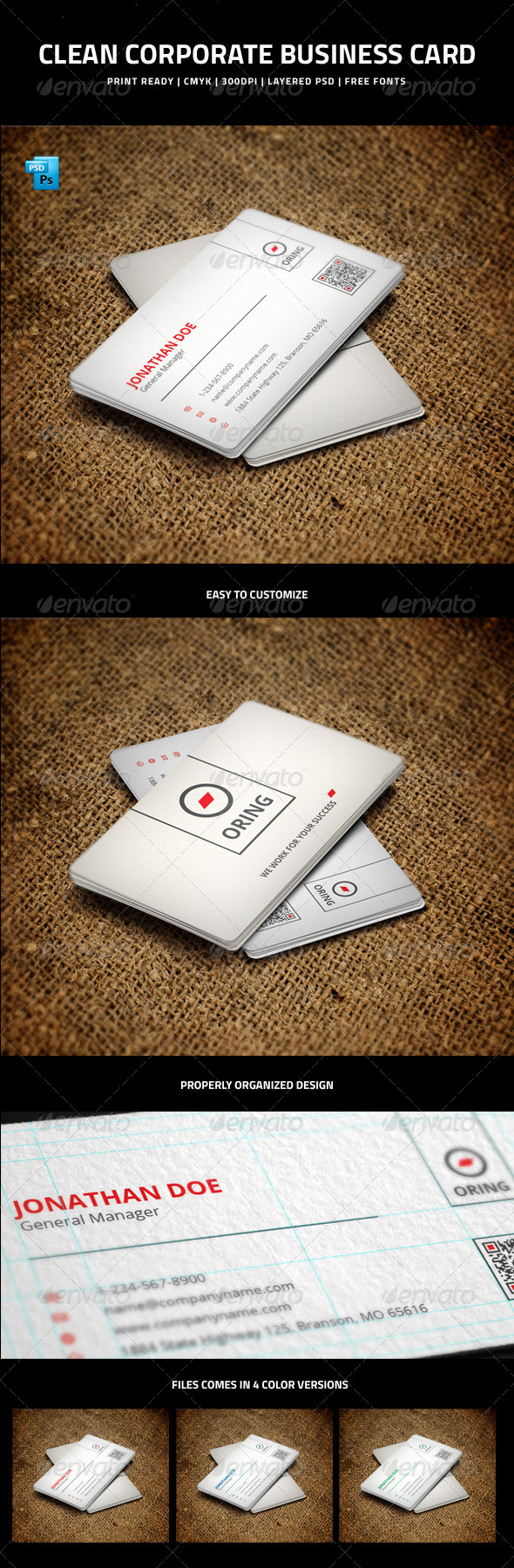 GraphicRiver Clean Corporate Business Card 5992356