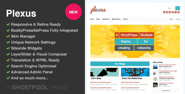 Plexus: Network WordPress & BuddyPress Theme - BuddyPress WordPress