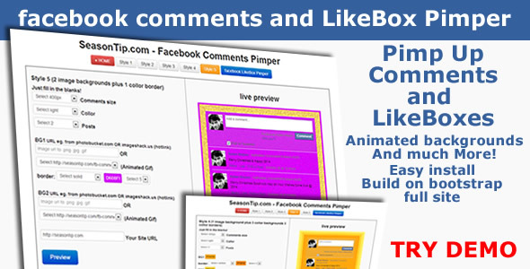 CodeCanyon Facebook Comments and LikeBox Pimper 5992480