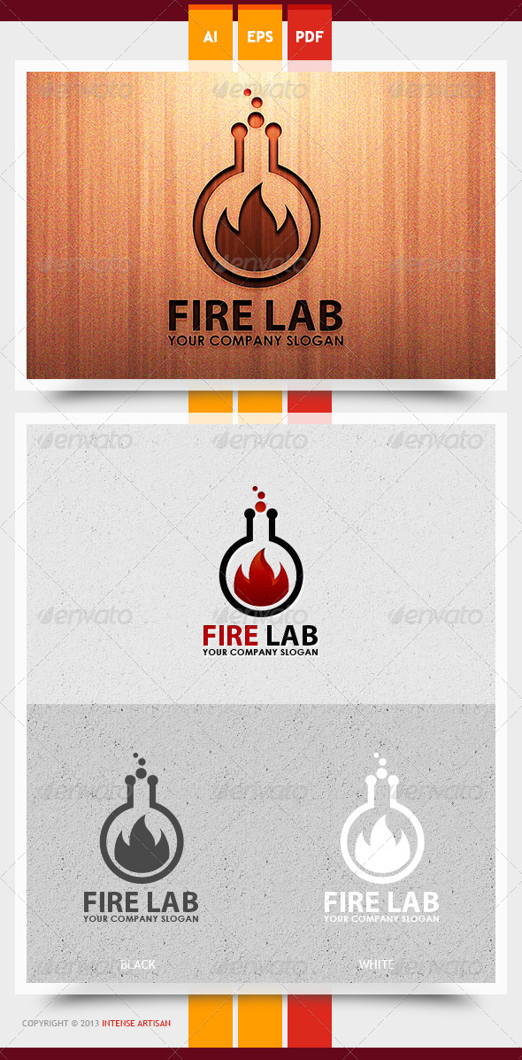 GraphicRiver Fire Lab Logo Template 5993578