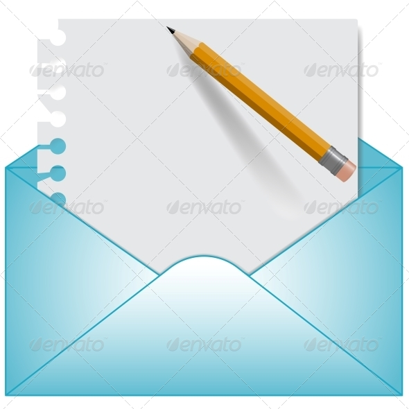 GraphicRiver Letter and Open Envelope Vector 5993639