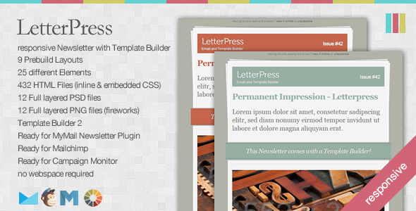 LetterPress - Responsive Newsletter with Template Builder