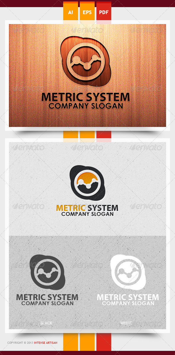 GraphicRiver Metric System Logo Template 5993824